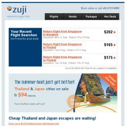 [Zuji] 3D2N Thailand and Japan from below $200!