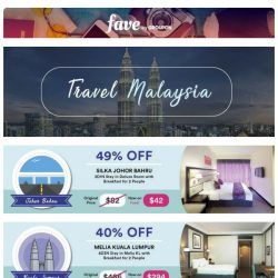 [Fave] It's just a trip away: Travel to Malaysia from just $42 inside!