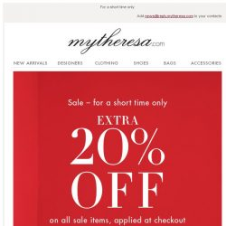 [mytheresa] Extra 20% off all sale items at checkout