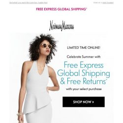 [Neiman Marcus] Free returns! Limited time only