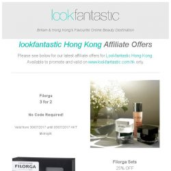 [The Hut] Lookfantastic Hong Kong Affiliate Offers