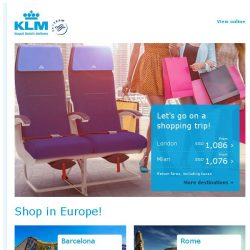 [KLM] The best shopping destinations