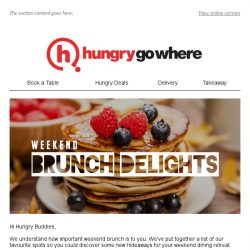 [HungryGoWhere] Cosy Joints for your Weekly Brunch Retreat