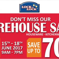 Lock & Lock: Warehouse Sale 2017 Up to 70% OFF Houseware, Kitchenware & Stocker