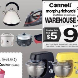 Cornell: Warehouse Sale with Up to 90% OFF Home Appliances & Kitchen Equipment