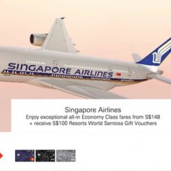 Singapore Airlines: Special Airfares to over 55 Cities from S$148 with HSBC Credit Cards!