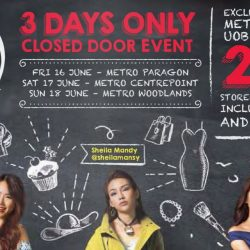 Metro: 3 Days Only Closed Door Event for Metro & UOB Cardmembers + Big Beauty Sale at Metro Woodlands
