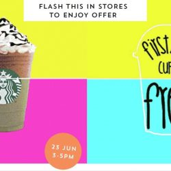 Starbucks: Flash This to Enjoy a FREE Frappuccino or 50% OFF Any Frappuccino!