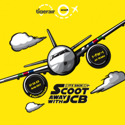 Scoot: 1-for-1 Air Tickets with UOB JCB Card!