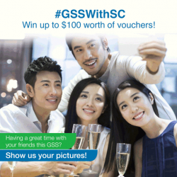 [Standard Chartered Bank] This GSS, we are giving you the chance to win up to $100 worth of shopping vouchers when you dine,