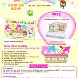 [Sanrio Gift Gate] Sanrio Fans Club's Recruitment Drive starts TODAY!