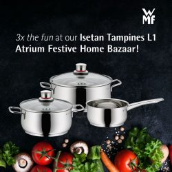 [WMF] Sweeten the pot with a dose of fun at our current Isetan Tampines L1 Atrium Festive Home Bazaar from 21 –