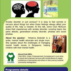 [Bukit Batok Community Library] We have a special June holidays talk for parents on the topic of anxiety in a parent-child relationship.