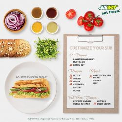 [Subway Singapore] We bring you options to customize your Roasted Chicken Breast Sub.
