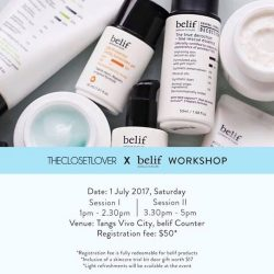 [Belif] Belif collaborates with @theclosetlover for a skincare and styling workshop happening this Saturday!