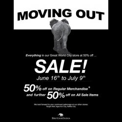 [BritishIndia] We're having a MovingOutSale at GreatWorldCity.