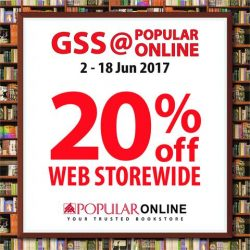 [POPULAR Bookstore] POPULAR ONLINE's Biggest Sale of the Year ─ the GSS@POPULAR ONLINE is here!