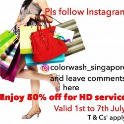 [ColorWash] Please follow our Instagram and enjoy 50% off promotion.
