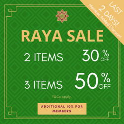 [Hush Puppies Outlet / Antton & Co. Outlet] LAST 2 DAYS - Find Raya inspirations in-store with up to 50% off New Arrivals.