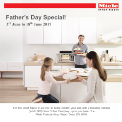 [Harvey Norman] This Father's Day, let Miele reward your dad with a bespoke hamper (worth $80) from Culina Dempsey upon purchase