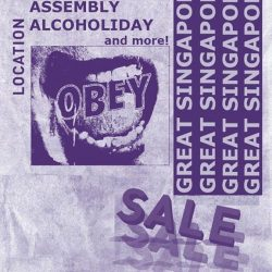 [Obey] Gear up for some special deals for OBEY in lined with the Great Singapore Sale next week!