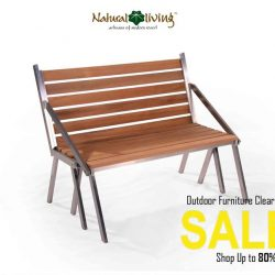 [Natural Living] Come down and take a look at our Outdoor Dining Furniture made of Teak and Stainless Steel (Highest Quality assured!