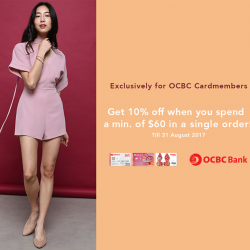 [Love, Bonito] Exclusive for OCBC CardmembersGet 10% when you spend a min.