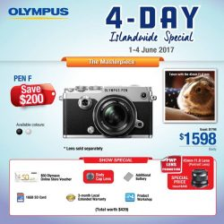 [Cathay Photo] In conjunction with the Consumer Electronics Exhibition (CEE) 2017, Olympus Imaging Singapore is running a 4-day islandwide promotion from