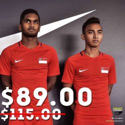[Premier Football Singapore] Singapore 2016 Home and Away jersey now at $89.