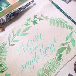 [Fika Swedish Café & Bistro (Halal)] Two more seats left to Freehand Brush Lettering for Beginners with Happy Hands Project, happening on 8th July (Sat).