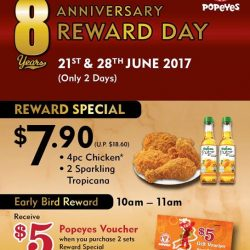 [Popeyes Louisiana Kitchen Singapore] Keep your eyes peeled for our 8th Anniversary Reward Day next Wednesday!