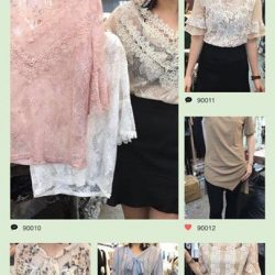 [Rose Of Sharon] Soft Lace Blouses for work and play$59 SGDFor shopping enjoyment, please feel free visit our retail stores on