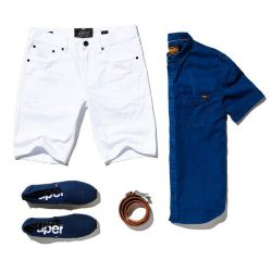 [Superdry] Crisp White & Indigo Blue's.