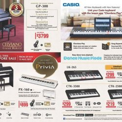 [Symphony Music School] Casio GSS 2017 Promotion is here!