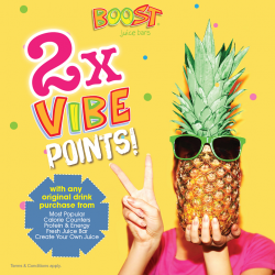 [Boost Juice Bars Singapore] 2x VIBE Points is back!