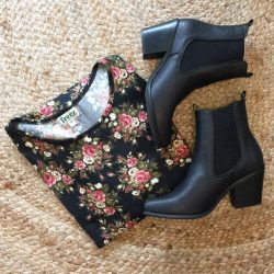 [Mico Boutique] We've just added lots of cute pieces to our MID YEAR SALE // Including the Black Floral Top, now down