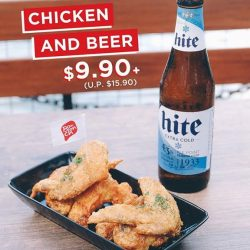 [Bonchon Singapore] Get a taste of our wings and a Korean bottled beer for only $9.