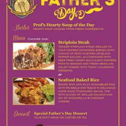 [PROFESSOR BRAWN CAFE] Celebrate this Father's Day and have a hearty meal together!