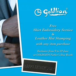 [Goldlion] Personalise a gift for Dad this Father's Day.