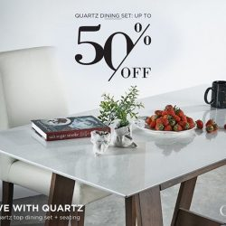 [Cellini] GSS SEASON SALE: up to 50% off QUARTZ dining sets Visit our showrooms to experience the Quartz dining sets yourselves.