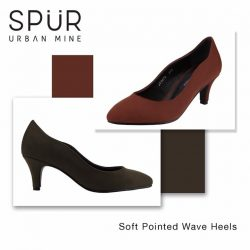 [SPUR] Featured sale: Soft pointed wave heels - an ideal combination of earthy colours and classic elegance.