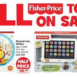 [Babies'R'Us] All Fisher Price toys and merchandise on offer from the 16 (Fri) to the 19 (Mon) June 17!