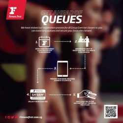 [Fitness First] CLASS BOOKER: Beat the queue by booking all your favourite Group Exercise classes via Class Booker app.
