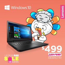 [Lenovo] Enjoy an exclusive $200 discount on the Ideapad 110 when you get yours from Lazada!