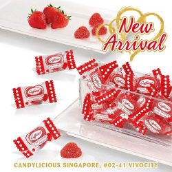 [Candylicious] Give a little love to someone today with Caffarel Strawberry Hearts Jellies.