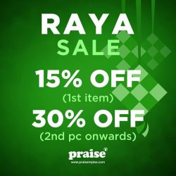 [Praise] Get ready for our Raya sale at any of our outlets!