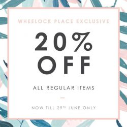 [YACHT21 Singapore] Exclusive sale for regular items only at Wheelock Place.