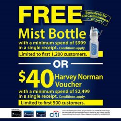 [Harvey Norman] This June, get exclusive free gifts when you charge purchases on your Citibank credit cards at HarveyNormanSG.