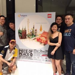 [My Little Brick Shop] Spent a night setting up for the Piece of Peace Pre-publicity Road Show at Raffles City.