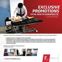 [Fitness First] FIRST PRIVILEGES: In partnership with Total Health Chiropractic (THC), achieve optimum health with promotions exclusively for Fitness First Tampines!